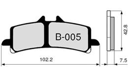 pastillas de freno zcoo b005